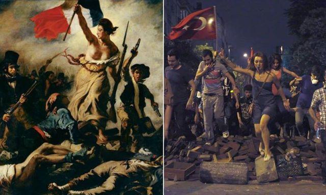 La Libertad guiando al pueblo de Turkía