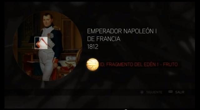 Assassin´s Creed II solución glifo 2 Napoleón