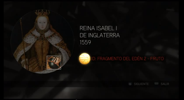 Assassin´s Creed II solución glifo 2 Reina Isabel