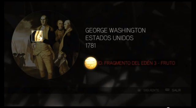 Assassin´s Creed II solución glifo 2 Washington