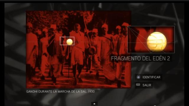 Assassin´s Creed II solución glifo 3 Gandhi Fruto