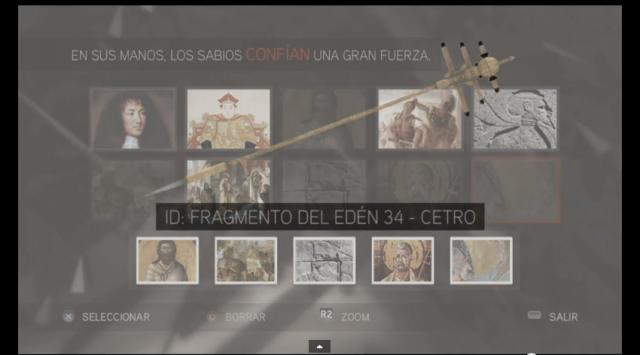 Assassin´s Creed II solución glifo 5 El poder que blandían aplastó a sus enemigos Cetro