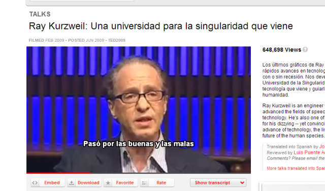 Ray Kurzweil TED