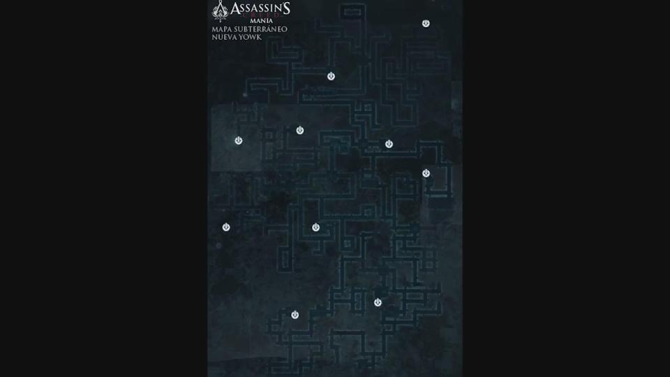 mapa subterráneos Nueva York Assassin's Creed 3