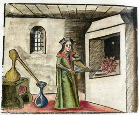 An alchemist at work, 1535.