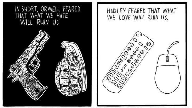 orwell huxley