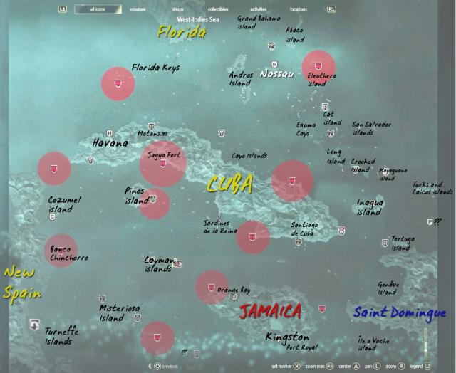 Assassin´s Creed 4 mapa