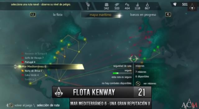 Flota Kenway- Gran Reputación II- Mediterráneo