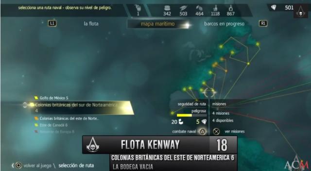 Flota Kenway - la bodega vacía-colonias británicas del este de norteamérica