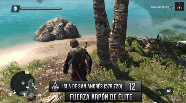 Isla de San Andrés plano fuerza arpón de élite