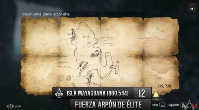 Isla Mayaguana mapa planos fuerza arpón de élite