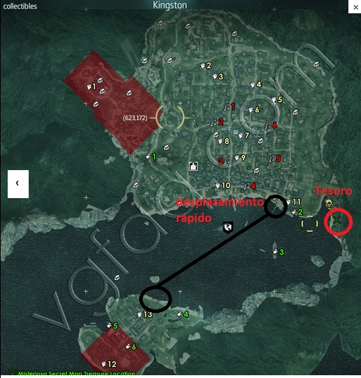 kingston map buried tresaure