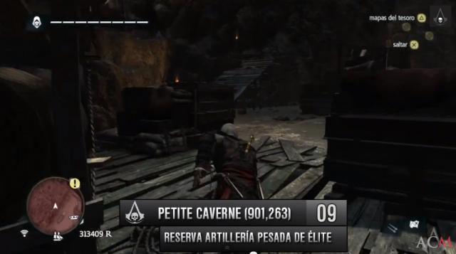 localizaciones Reserva artillería pesada de élite en Petite Caverne