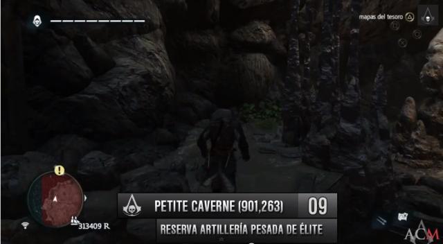 Localizaciones Reserva artillería pesada Petite Caverne