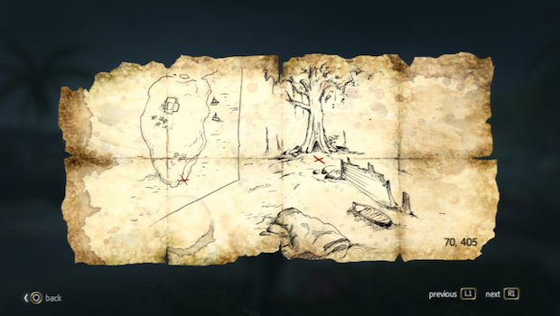 mapa en Petite Caverne