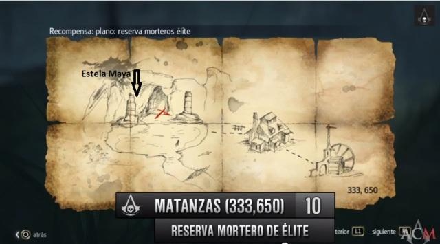 plano Reserva mortero de élite cofre en Matanzas- al lado Estela maya