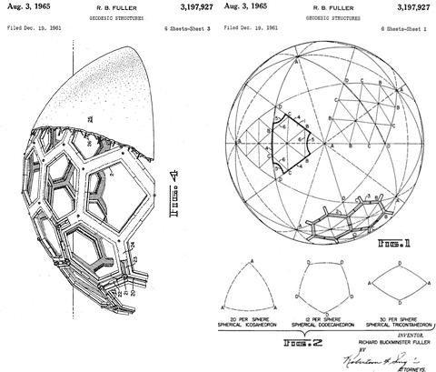 r-buckminster-fuller cúpula geodésica